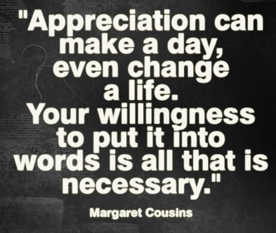 ! appreciation 2