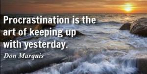! Procrastination
