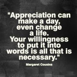 ! 0000 appreciation