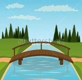 stock-vector-small-wooden-bridge-vector-illustration-75853696